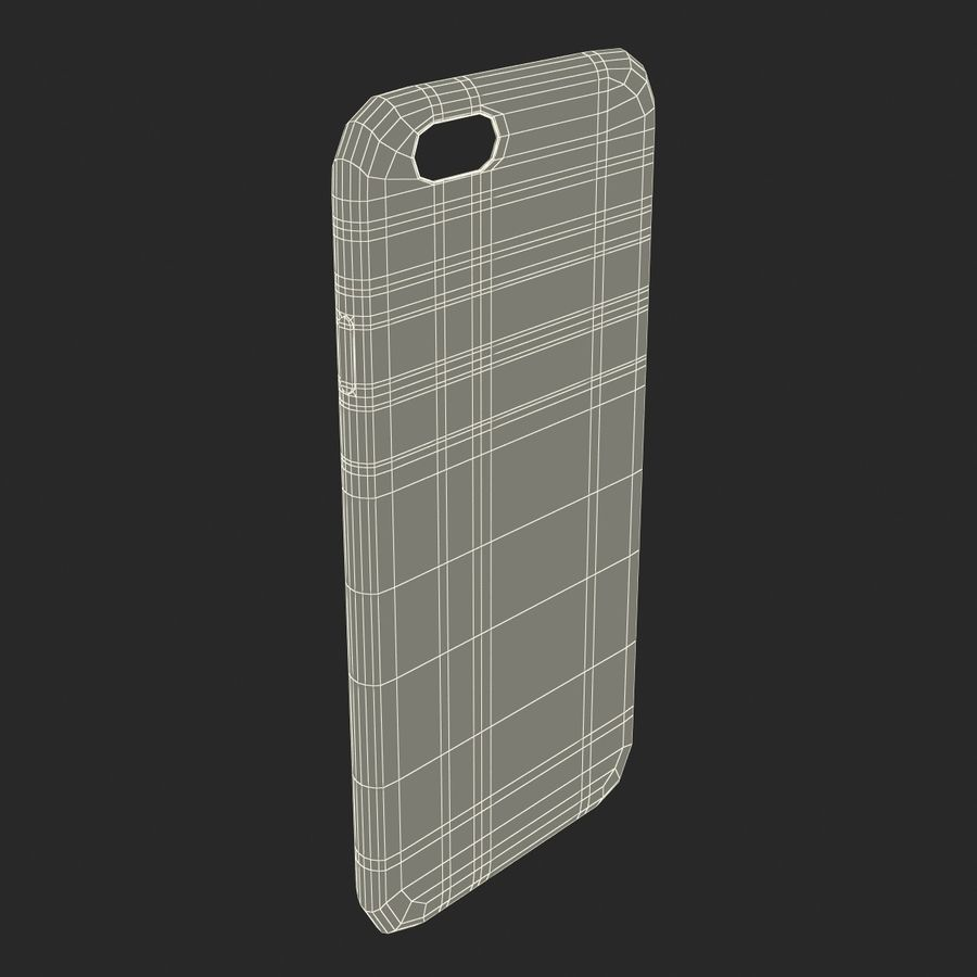 Capa de silicone para iPhone 6 Plus royalty-free 3d model - Preview no. 31