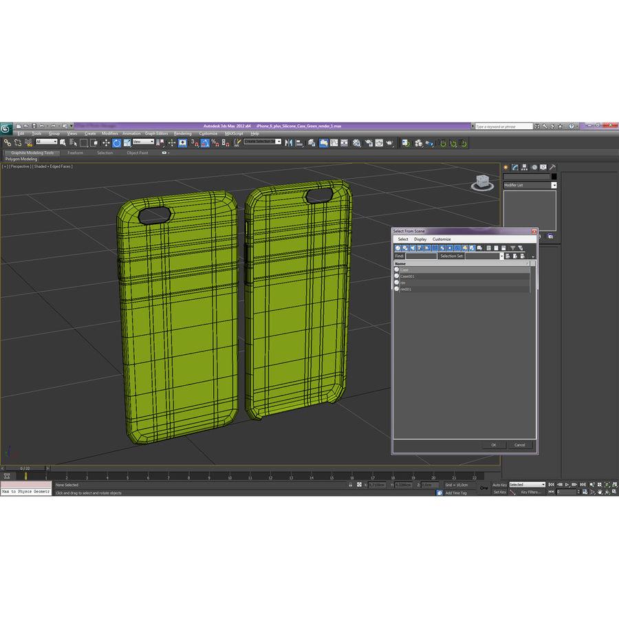 Capa de silicone para iPhone 6 Plus royalty-free 3d model - Preview no. 30