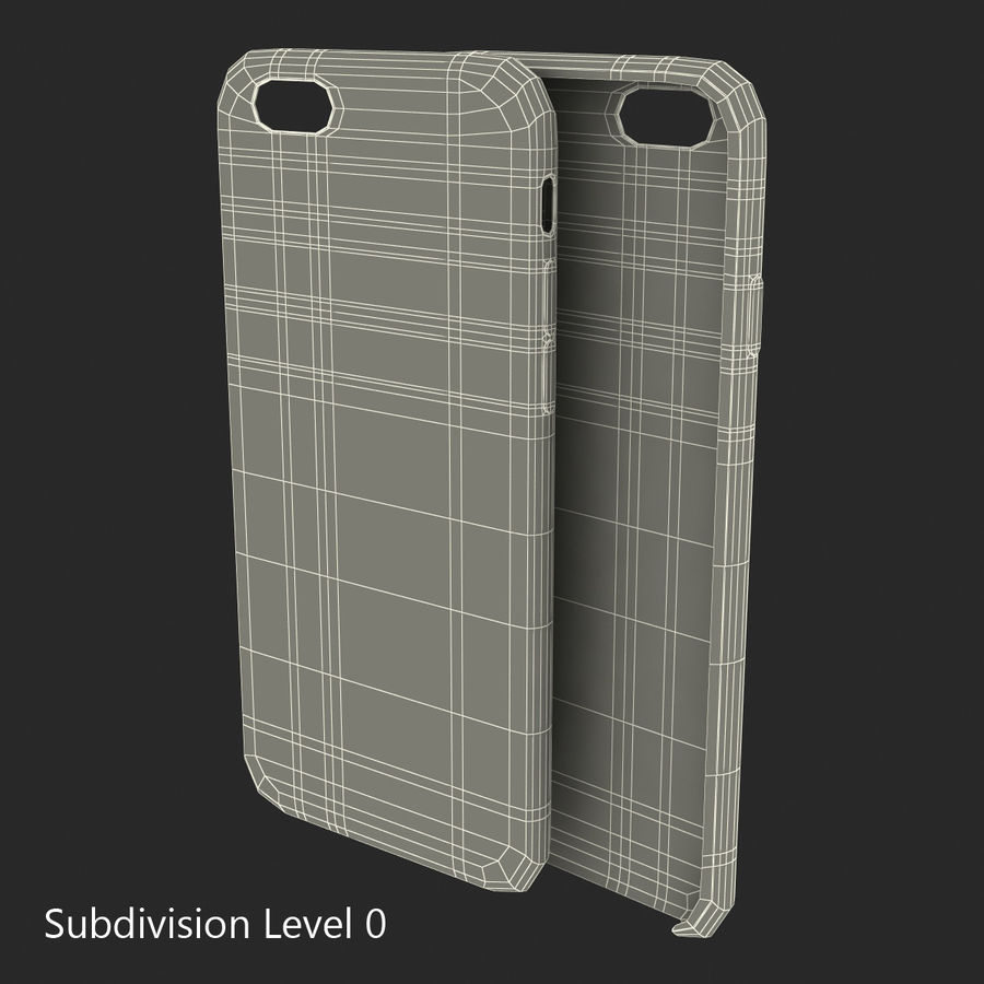 Capa de silicone para iPhone 6 Plus royalty-free 3d model - Preview no. 26