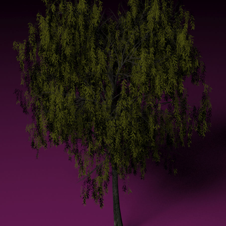 High + low poly trees royalty-free 3d model - Preview no. 3