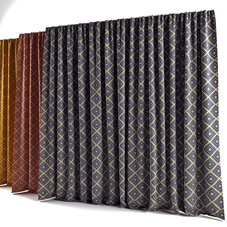 Curtains royalty-free 3d model - Preview no. 2