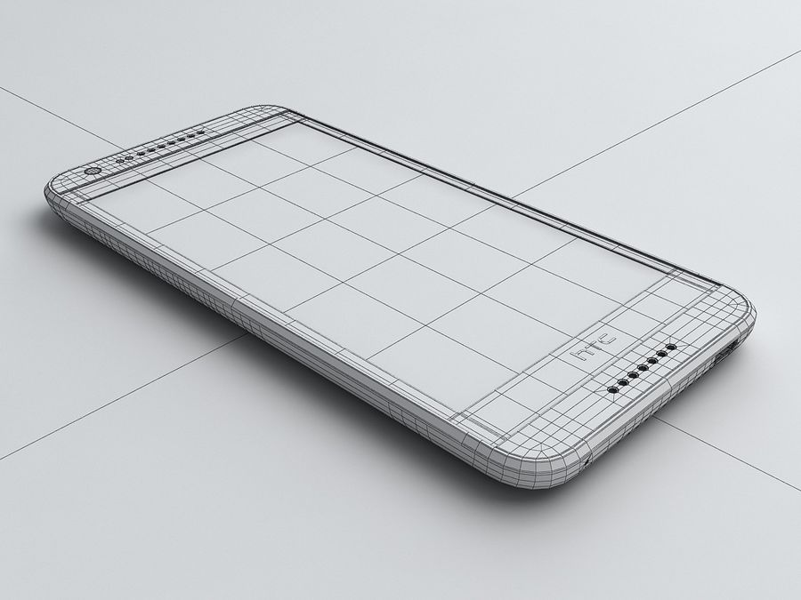 HTC Desire 620 royalty-free 3d model - Preview no. 16