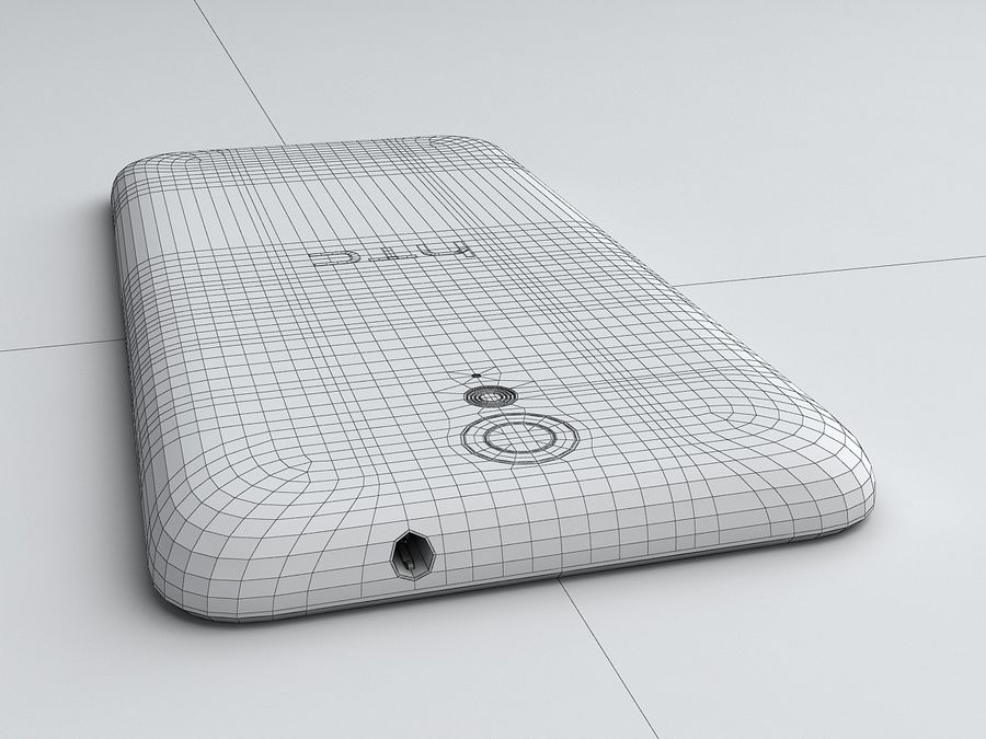 HTC Desire 620 royalty-free 3d model - Preview no. 19