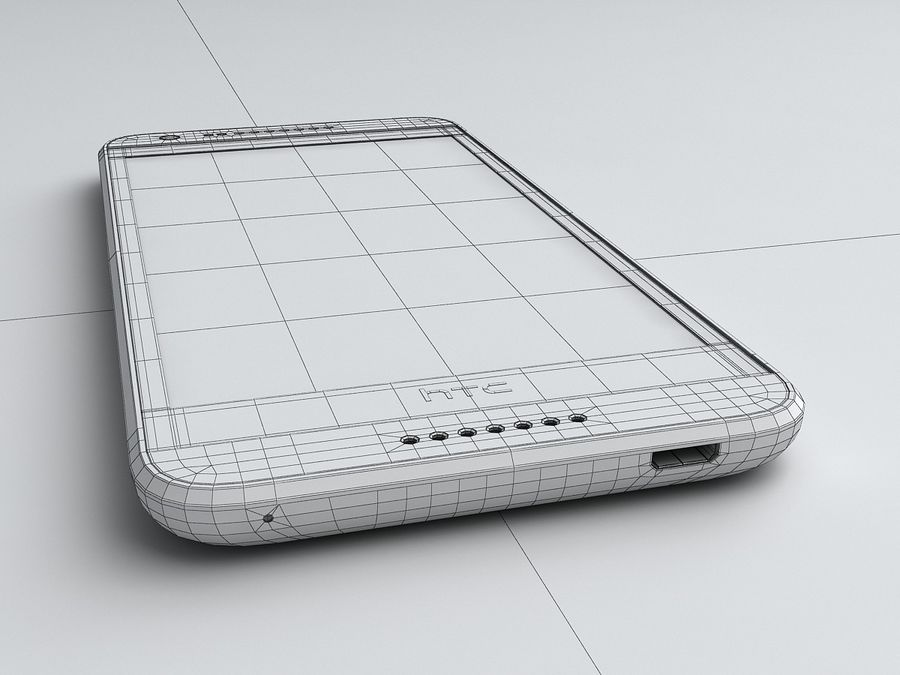 HTC Desire 620 royalty-free 3d model - Preview no. 18