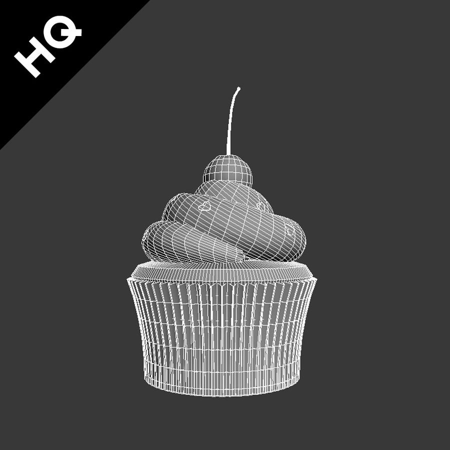 Cupcake royalty-free 3d model - Preview no. 11