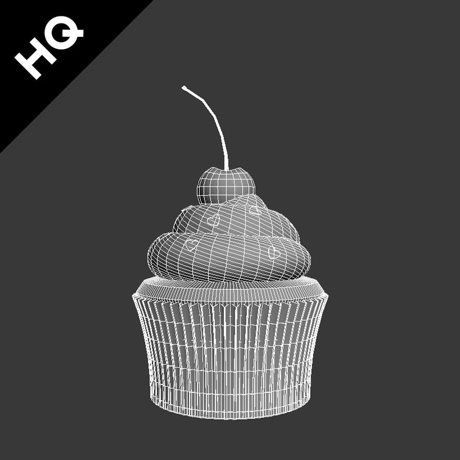 Cupcake royalty-free 3d model - Preview no. 7