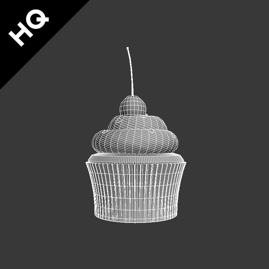 Cupcake royalty-free 3d model - Preview no. 9