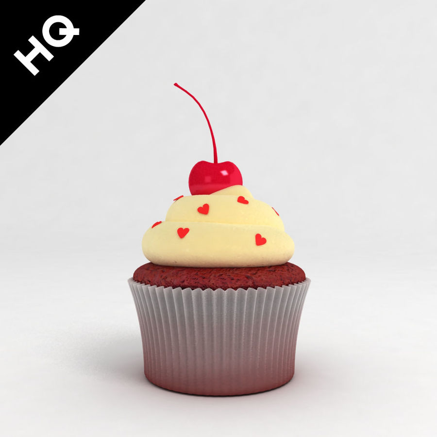 Cupcake royalty-free 3d model - Preview no. 1