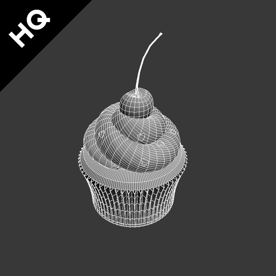 Cupcake royalty-free 3d model - Preview no. 10