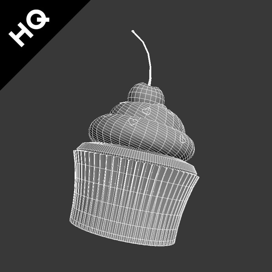 Cupcake royalty-free 3d model - Preview no. 8