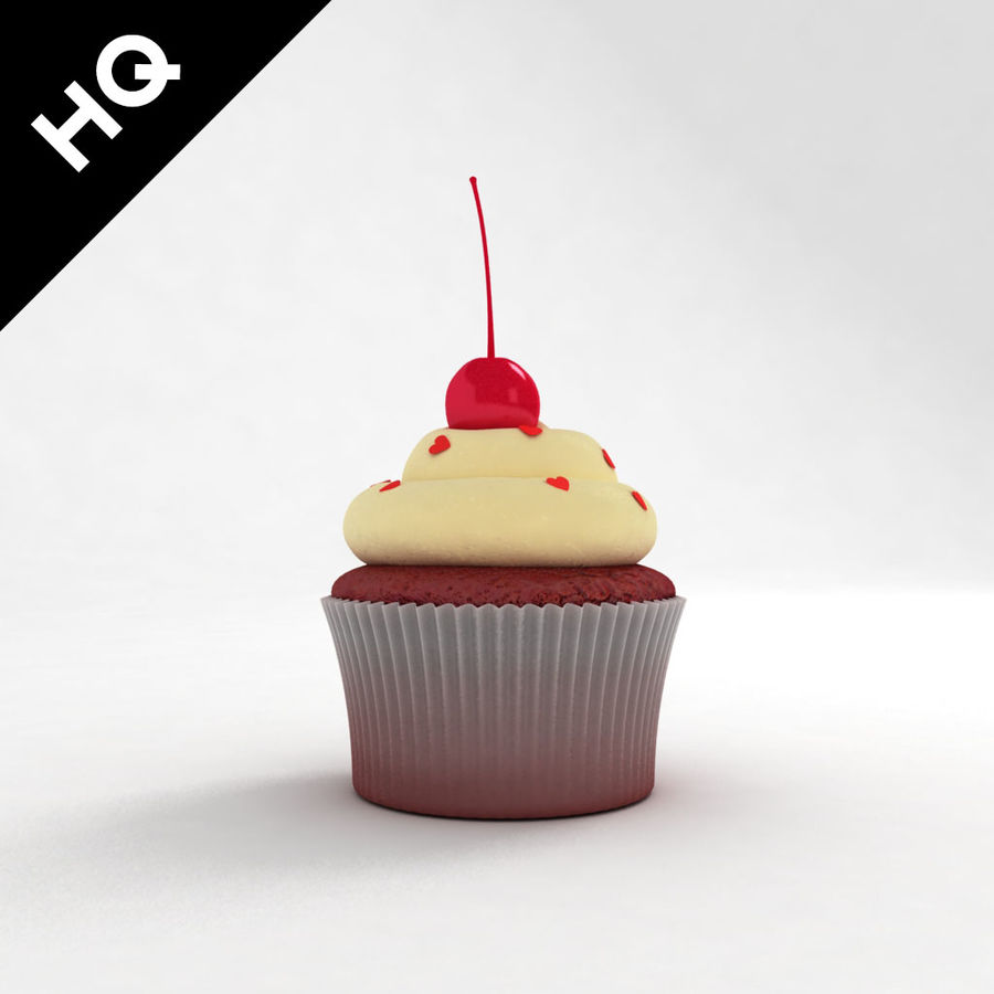 Cupcake royalty-free 3d model - Preview no. 3