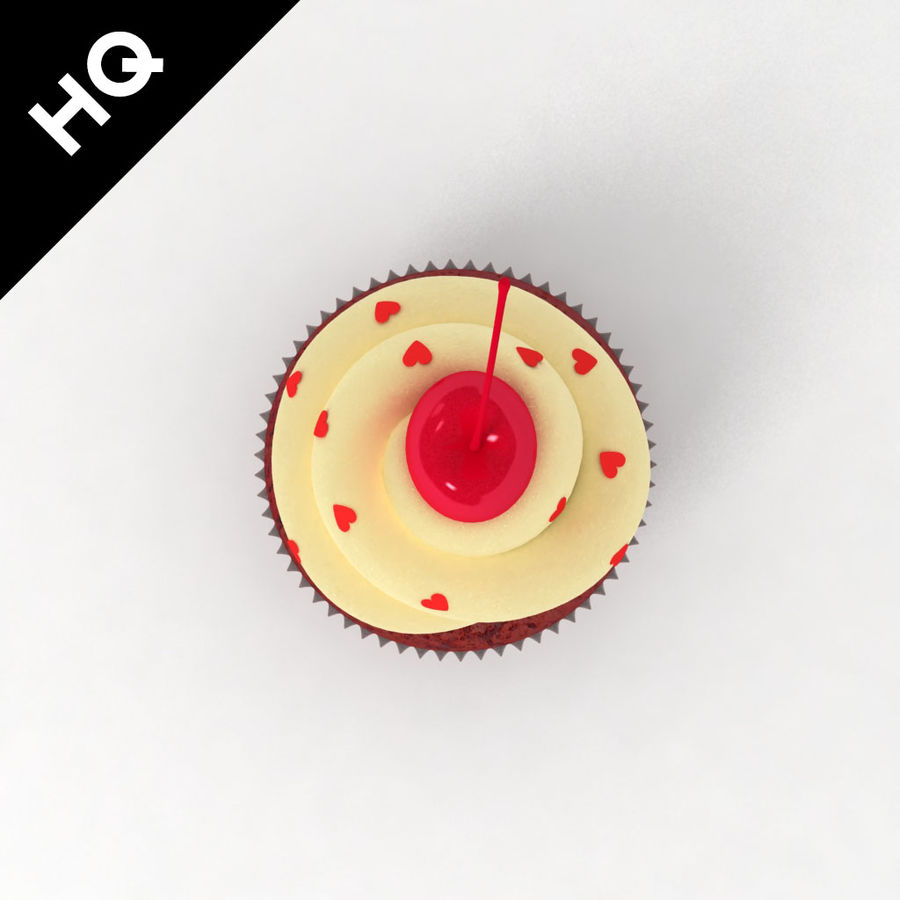 Cupcake royalty-free 3d model - Preview no. 6