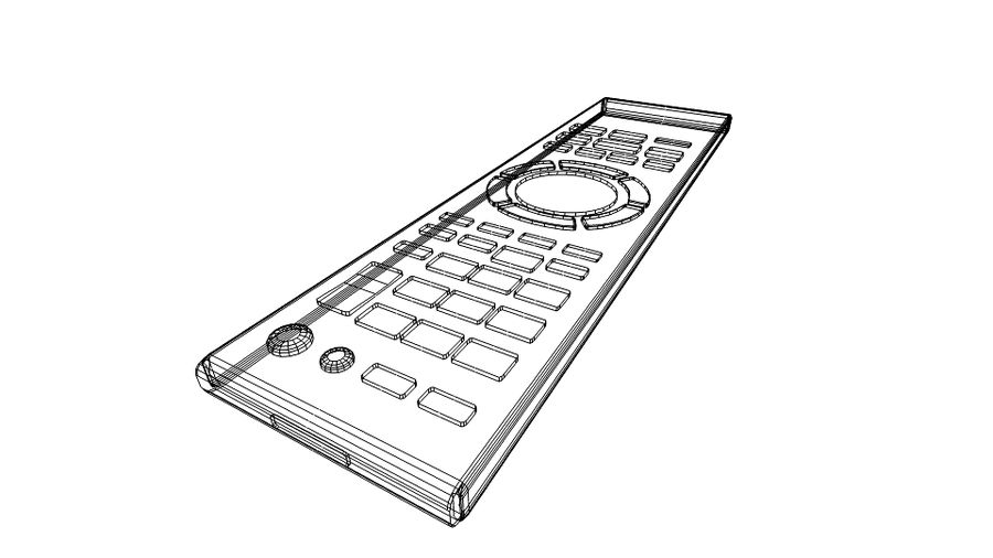 Remote Controller royalty-free 3d model - Preview no. 10