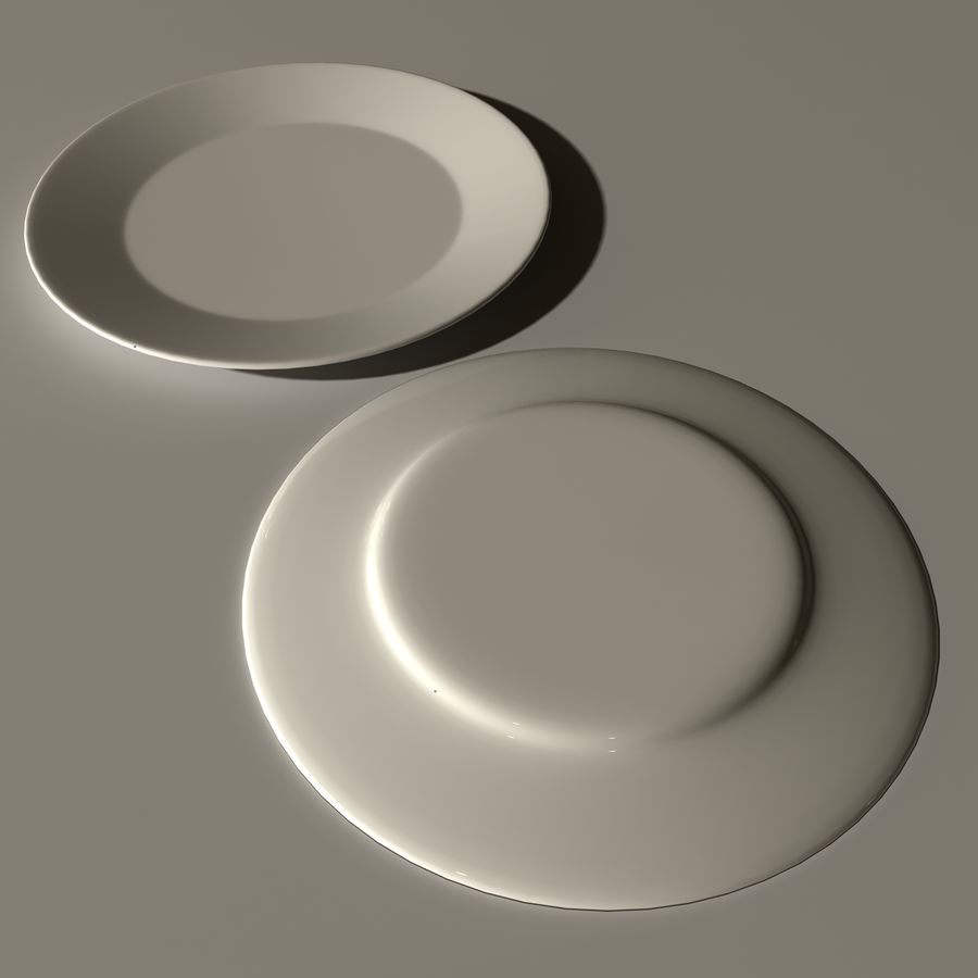 Plate royalty-free 3d model - Preview no. 5