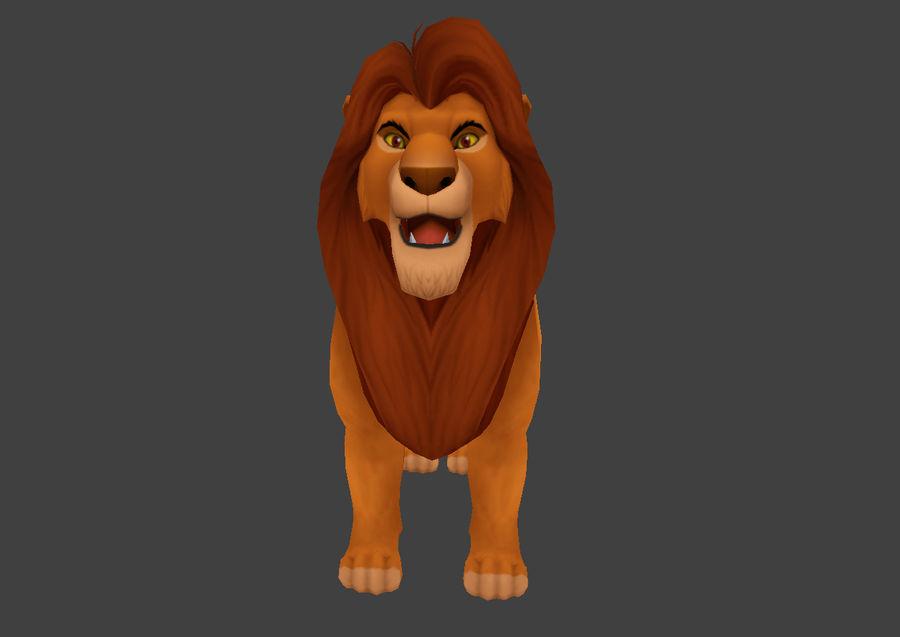 Simba cartoon lion royalty-free 3d model - Preview no. 3