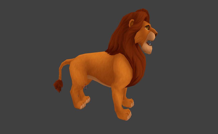Simba cartoon lion royalty-free 3d model - Preview no. 2