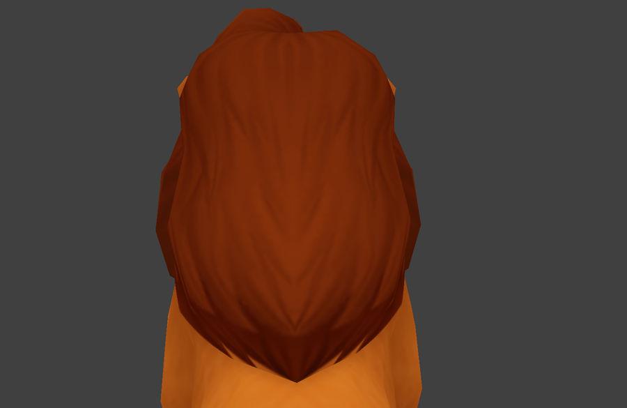 Simba cartoon lion royalty-free 3d model - Preview no. 6