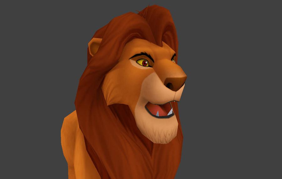 Simba cartoon lion royalty-free 3d model - Preview no. 8