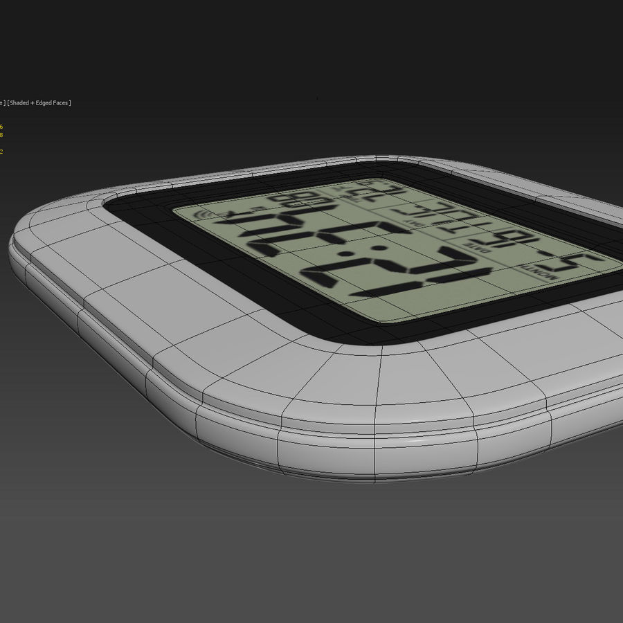 Digital wall clock royalty-free 3d model - Preview no. 6