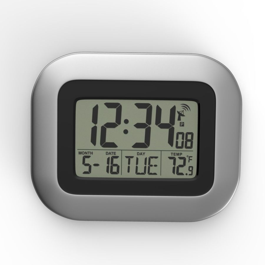 Digital wall clock royalty-free 3d model - Preview no. 1