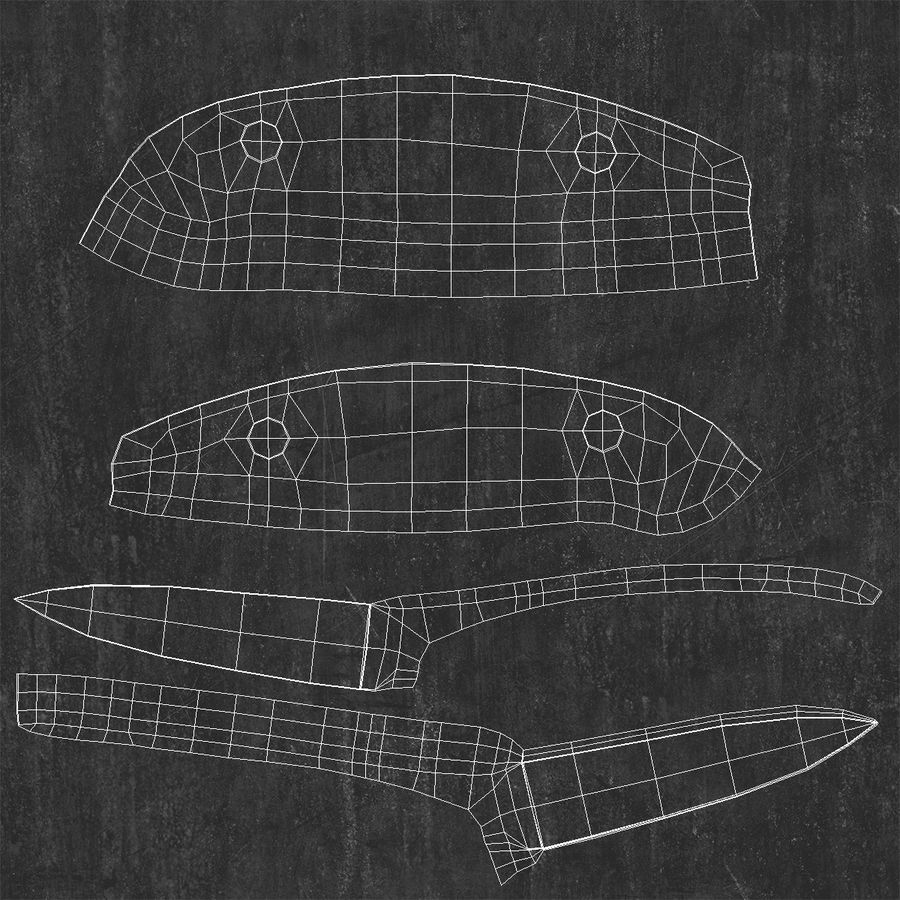 Paring Knife 3D Model royalty-free 3d model - Preview no. 17
