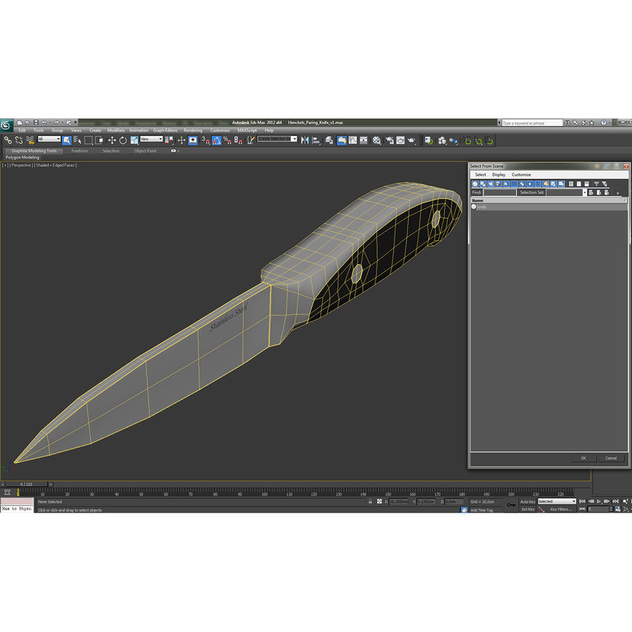 Paring Knife 3D Model royalty-free 3d model - Preview no. 19