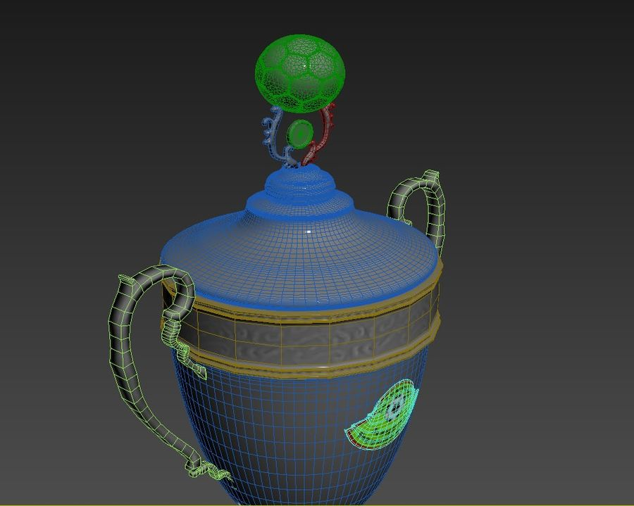 Belarussian Champion Cup royalty-free 3d model - Preview no. 6