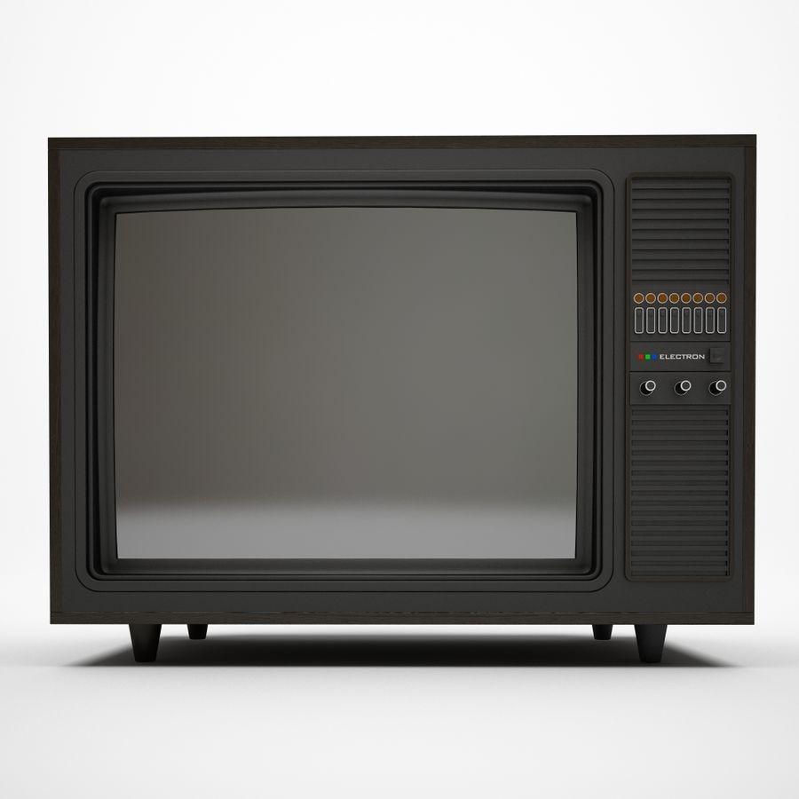 复古电视 royalty-free 3d model - Preview no. 2
