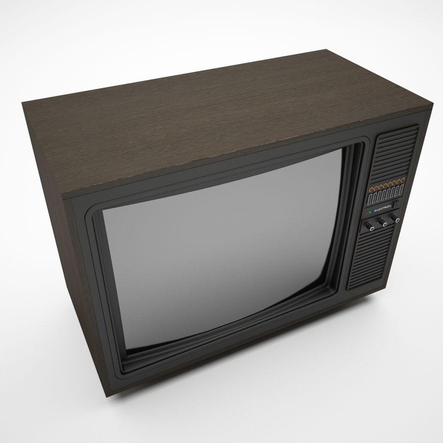 复古电视 royalty-free 3d model - Preview no. 4