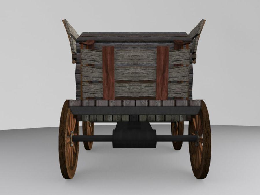 Voiture Médiévale Low-Poly royalty-free 3d model - Preview no. 4