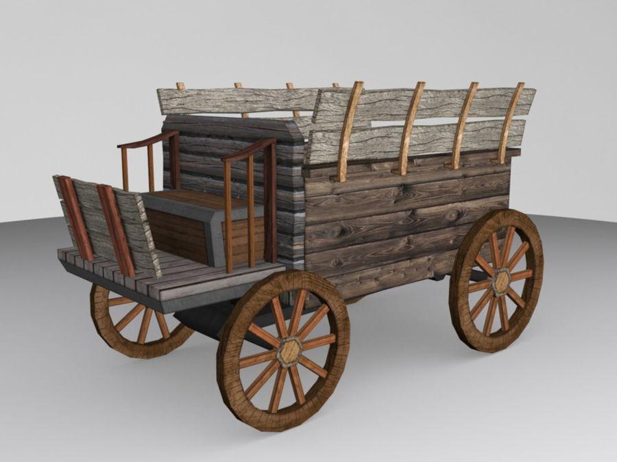 Voiture Médiévale Low-Poly royalty-free 3d model - Preview no. 1