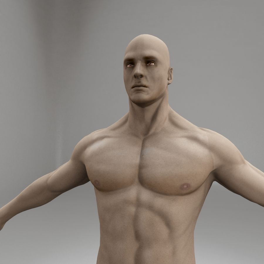 男性の体格 royalty-free 3d model - Preview no. 7