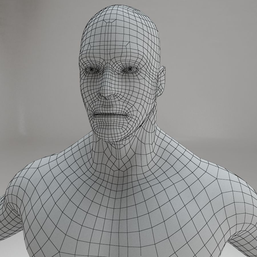 男性の体格 royalty-free 3d model - Preview no. 12