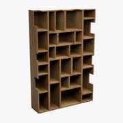 Bookcase Wood 3d model