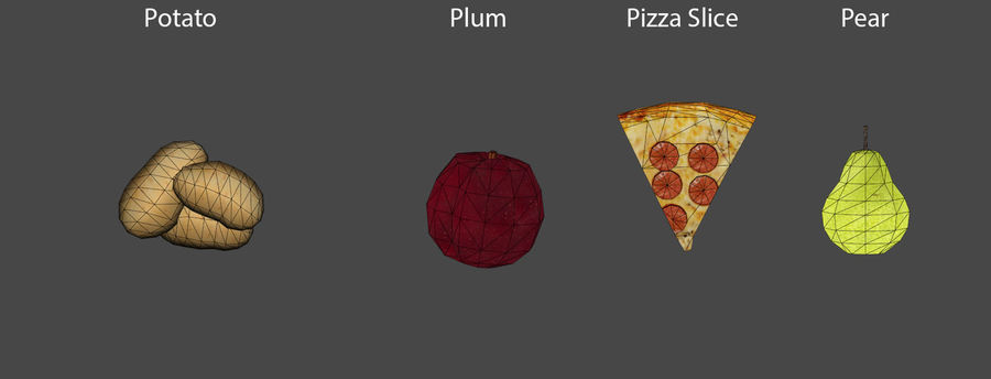 Food items royalty-free 3d model - Preview no. 8