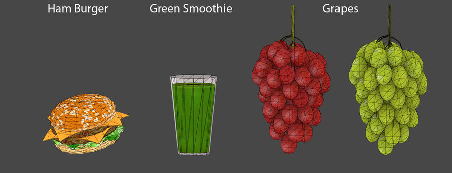 Food items royalty-free 3d model - Preview no. 1