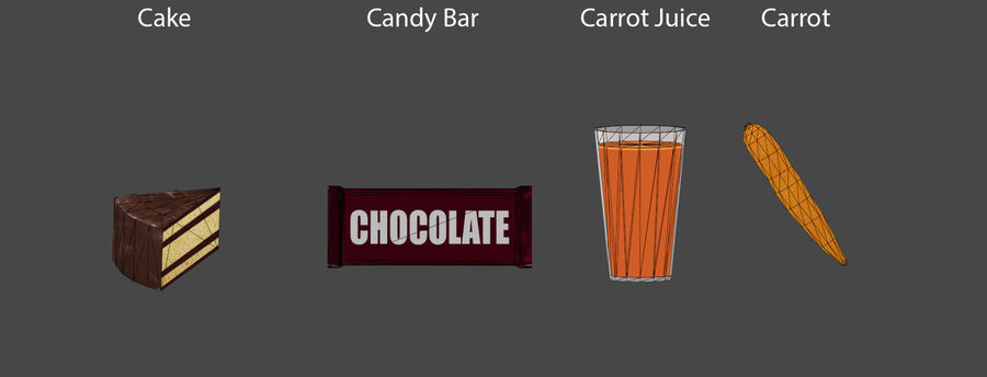 Food items royalty-free 3d model - Preview no. 4