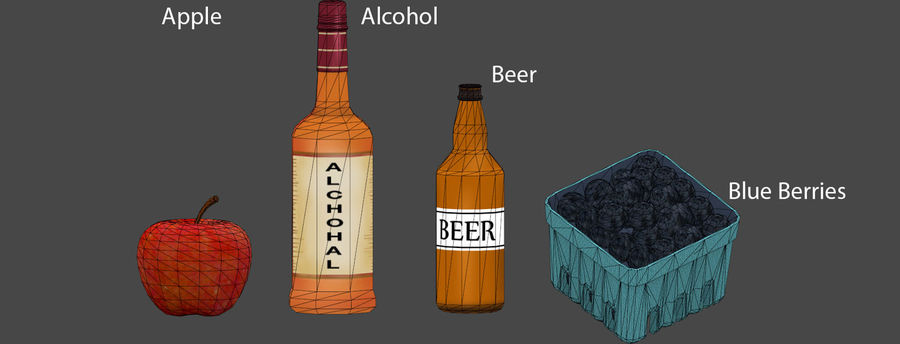 Food items royalty-free 3d model - Preview no. 3