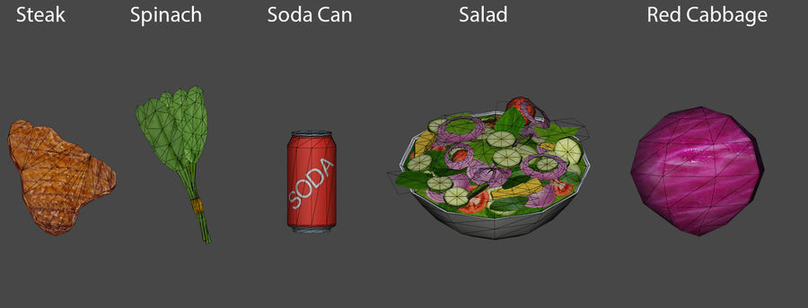 Food items royalty-free 3d model - Preview no. 6