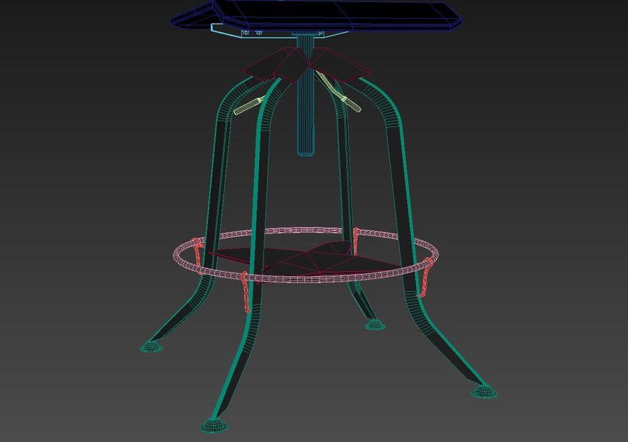 BAR STOOL(1) royalty-free 3d model - Preview no. 5
