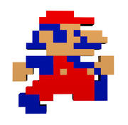 Mario Sprite - 8-bit, Jump 3d model