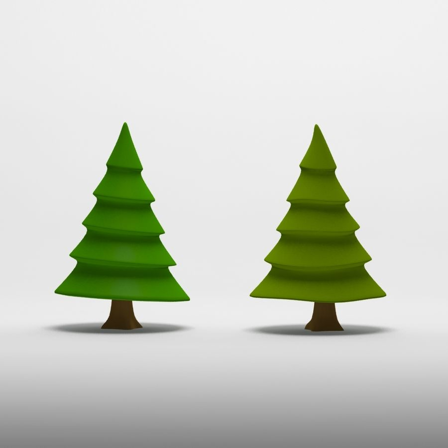 Cartoon tree royalty-free 3d model - Preview no. 5