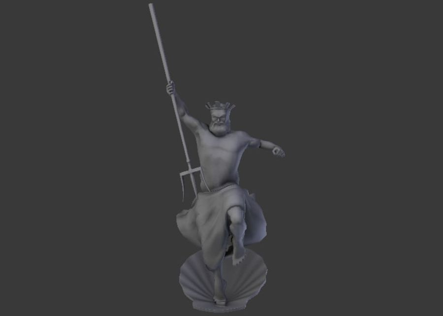 Poseidon royalty-free 3d model - Preview no. 2