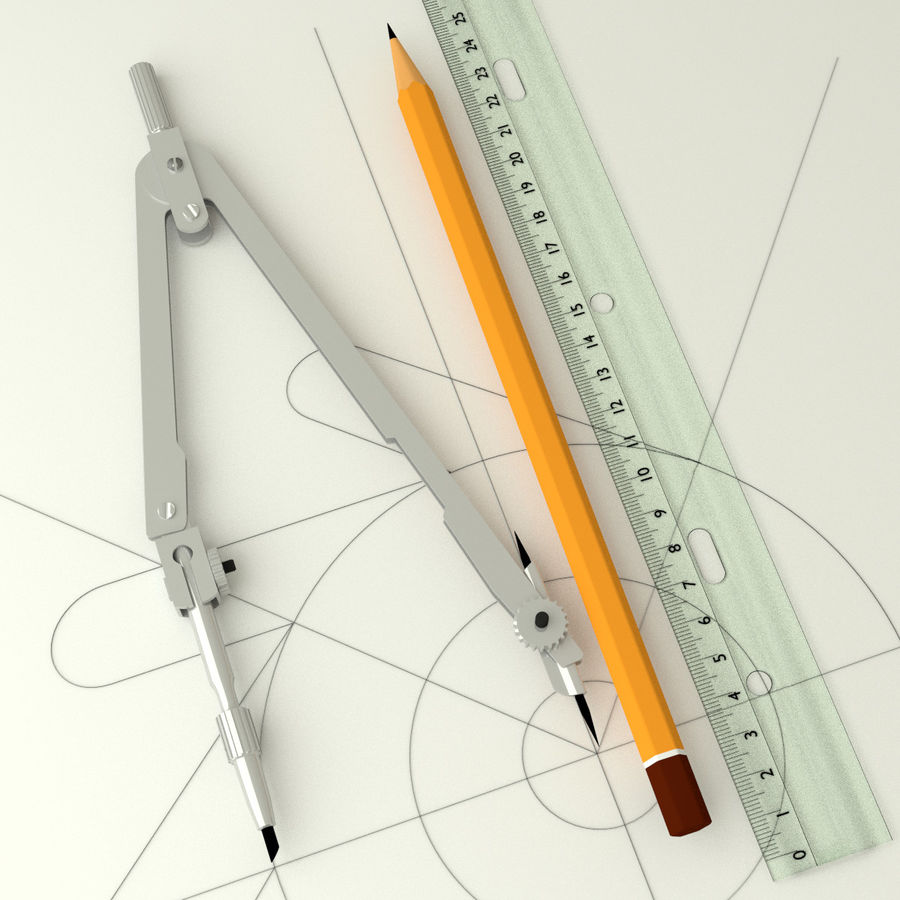 Compasses royalty-free 3d model - Preview no. 1