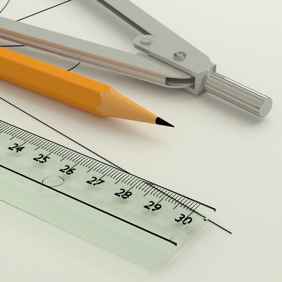 Compasses royalty-free 3d model - Preview no. 4