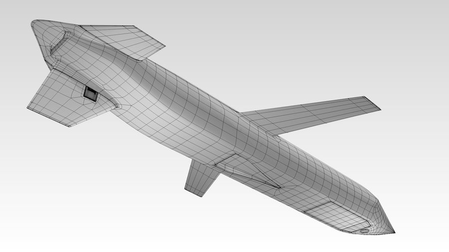 AGM-129 royalty-free 3d model - Preview no. 8