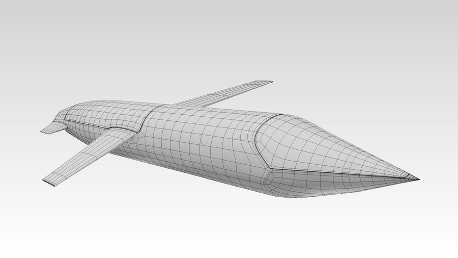 AGM-129 royalty-free 3d model - Preview no. 6