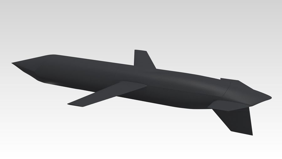 AGM-129 royalty-free 3d model - Preview no. 1