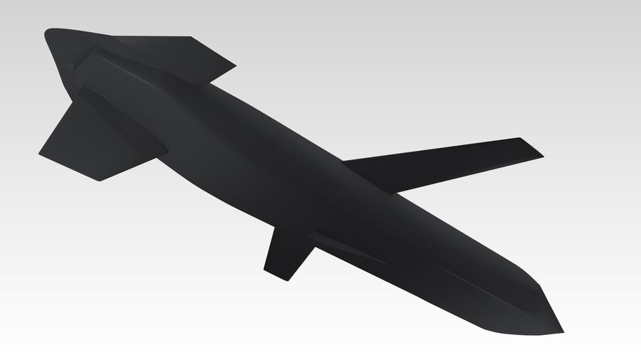 AGM-129 royalty-free 3d model - Preview no. 7