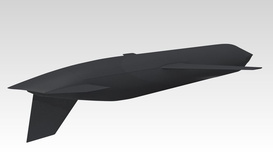 AGM-129 royalty-free 3d model - Preview no. 3